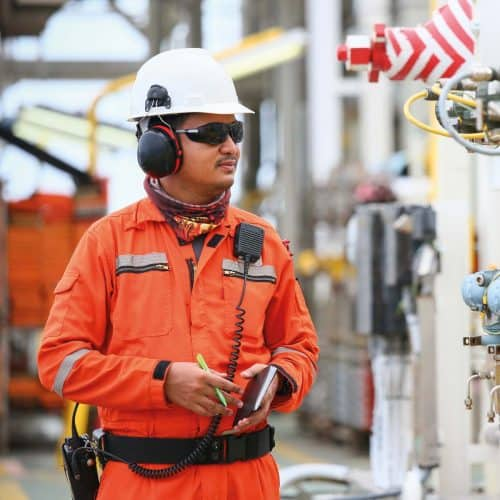 Oil Rig Engineer Smartphone